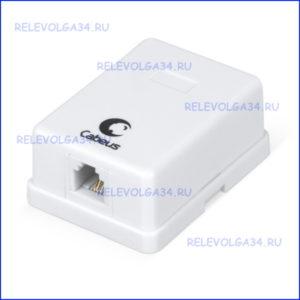 Розетка телефонная Cabeus WS-6P4C-TEL-1