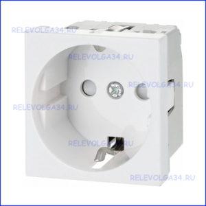 Розетка электрическая RAL9010. 2V. BRAVA