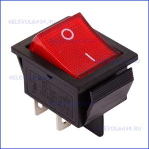 Выключатель клавишный 250V 16А (4с)